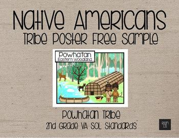 Native American Tribe Poster Freebie - Powhatan Tribe