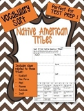 Native American Tribe Vocabulary Sort