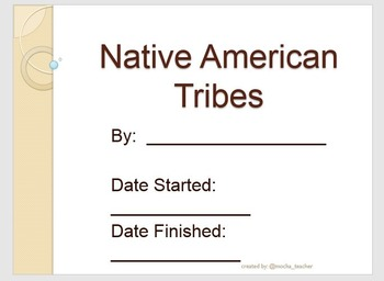 Native American Tribes Organizer
