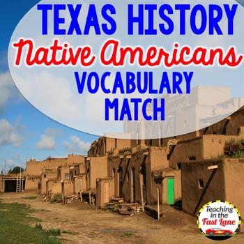 Native American Vocabulary Match Up