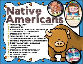 Native American Writing and Craft Unit ~ Vocabulary ~ Grap