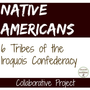 Native Americans 6 tribes of the Iroquois Confederacy Coop