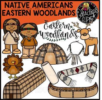 Native Americans-Eastern Woodlands Clip Art Bundle {Educli