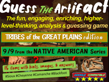 Native Americans (Great Plains) Guess the Artifact game: P