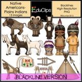 Native Americans-Plains Indians Clip Art BLACKLINES