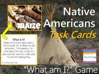 Native Americans Task Cards with PHOTOS