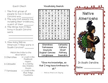 Native Americans in South Carolina Brochure