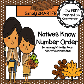 Natives Know Number Order:  LOW PREP Sequencing Write the Room