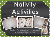 Nativity Math and Literacy Activities