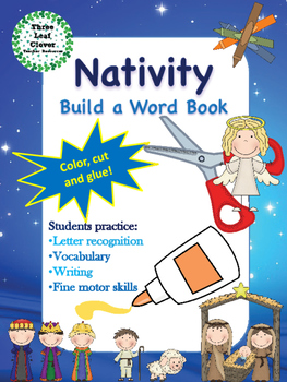 Nativity Build a Word Book - Color, Cut and Glue Activity
