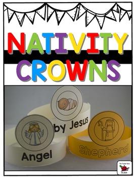 Nativity Crowns {Christmas}