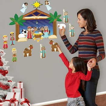 Nativity Interactive Wall Play Set + Downloadable Story Au