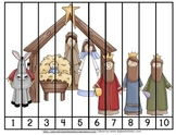 Nativity Number Order and Skip Counting Puzzles