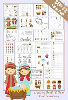 Nativity PreK K Printable Activity Pack