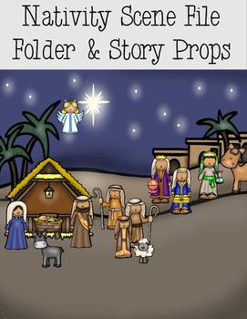 Nativity Scene File Folder and Story Props