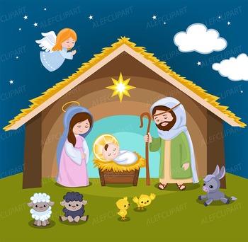 Nativity clipart - Christmas clipart