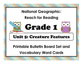 National Geographic Reach-Reading: Grade 1 - Unit 5 Bullet