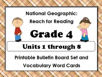 National Geographic Reach-Reading:Gr 4 Units 1-8 Bulletin