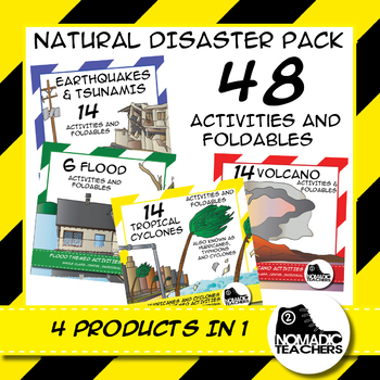 Natural Disaster Activities and Foldables - 4 Products in