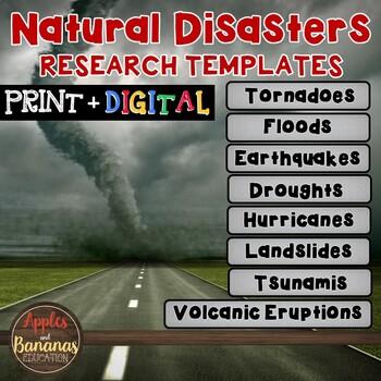 Natural Disasters Fact Sheets: Note-Taking Templates