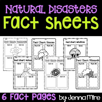 Natural Disasters: Tornadoes, Volcanoes, and Storms Fact Sheet