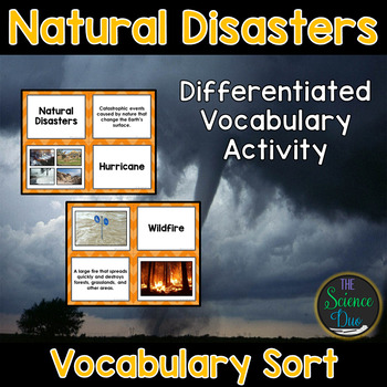 Natural Disasters Vocabulary Sort
