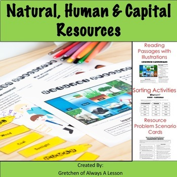 Natural, Human and Capital Resources Learning and Activity Pack