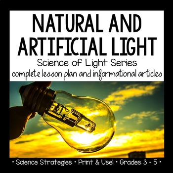 Natural and Artificial Light Interactive Notebook Lesson a