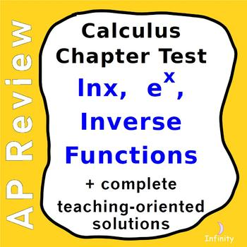 Natural Log, Exponential, Inverse Functions Assessment + S