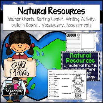 Earth's Natural Resources {Anchor Charts, Activities, Asse