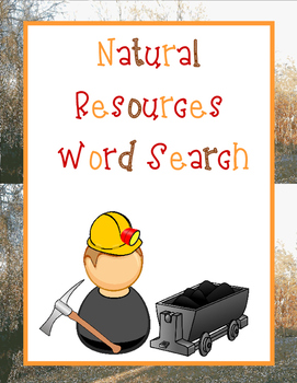 Natural Resources Word Search *FREEBIE*