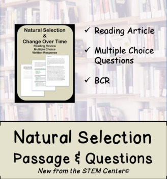 Natural Selection Reading Passages and Questions Activity