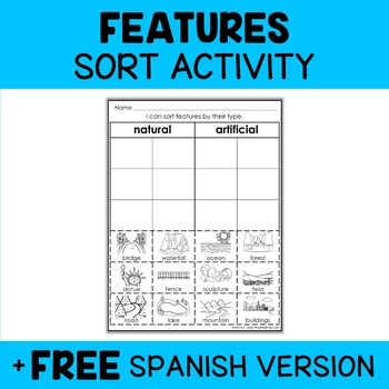 Physical Features Sorting Activity