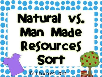 Natural and Man Made Resources Sort