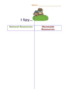 Natural and Manmade T-Chart