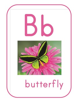 Nature ABC or Alphabet chart