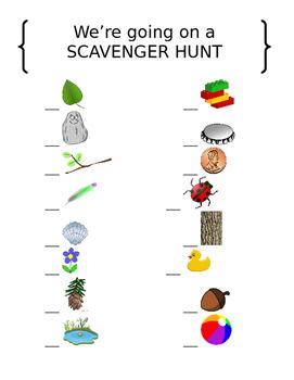 Nature Scavenger Hunt Checklist