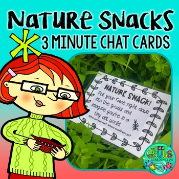Nature Snack Cards {36 prompts to squeeze nature into your
