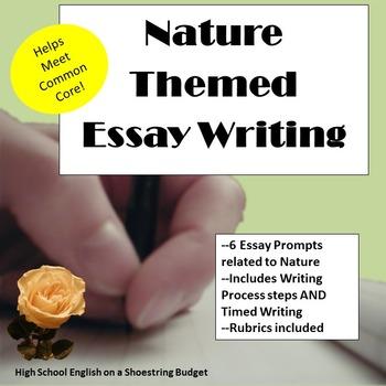 Nature Themed Essay Writing, w Rubrics & Printables