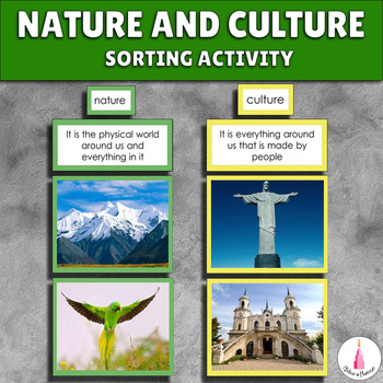 Nature and Culture Montessori Sorting Cards