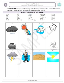 Nature and Weather A: Weather Adjectives