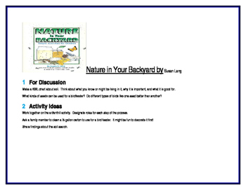 Nature in Your Backyard for simple science activities