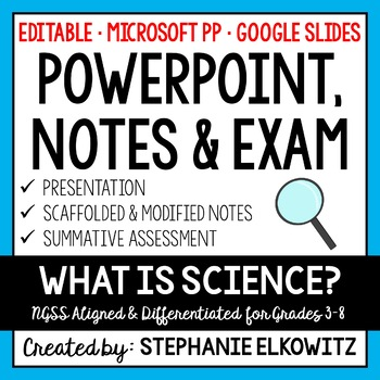 Understanding the Nature of Science PP, Notes & Exam (Diff