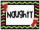 Naughty or Nice Christmas Behavior Chart