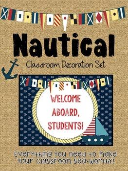 Nautical Anchor Themed Classroom Decoration Set