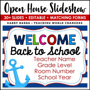 Nautical Back to School PowerPoint