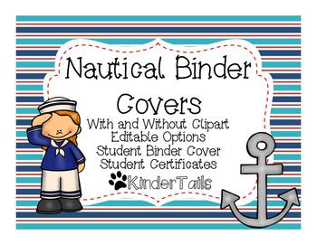 Nautical Binder Covers {Editable}