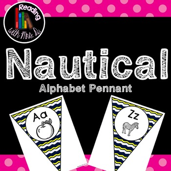 Nautical Blue and Yellow Alphabet Pennant