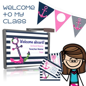 Meet the Teacher Presentation, Business Cards & Banner