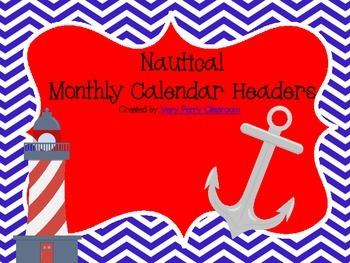 Nautical Calendar Headers